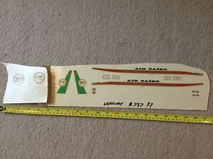 Desk display Aircraft model Decal Westway Or Skyland???  Air Zaire Small
