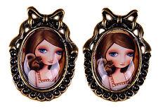 Cute PIN UP Eichhörnchen Vintage Ohrstecker Rockabilly Ohrschmuck Ohrring 50s