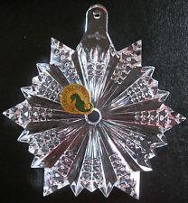 Waterford 2012 Snow Crystal Ornament NIB w Enhanser Made in Slovenia 156410