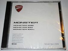 schéma circuit électrique sur CD Ducati Monster 696 1100 / 1100S de 2009