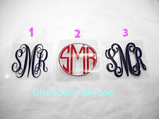 "2"" DIY Iron On Monogram U Pick Color & Style Regular Neon or Glitter SHIPS FREE!"