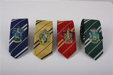 4pc Harry Potter Gryffindor Hufflepuff Ravenclaw Slytherin Necktie Tie Xmas Gift