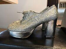"Vintage  ""disco"" Glitter Glam Platform Shoes By Di'orsini Originals"