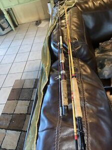Lot 2 Vintage Fishing Poles Heddon Pal 8353 Mark 2 And Garcia 2512C