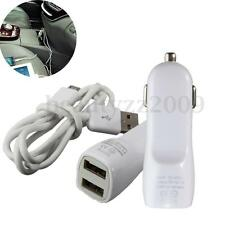 Dual 2 Port FOR Car Fast Charger Adapter & Micro USB Cable For Smart Phone