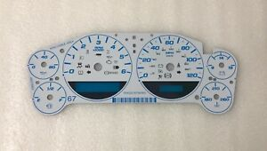 2007-2013 GM Chevy Truck Cluster WHITE Gauge Face Overlay Aftermarket