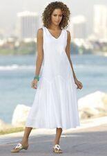 Monroe and Main Gored Eyelet Dress White NEW size XL