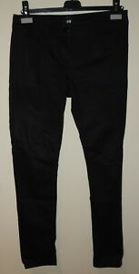 Damen Stoffhose Schwarz Slim Leg Gr. 38 H&M