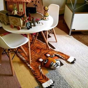 KIDS  RUG CHILDREN ROOM FLOOR Animal SKIN Tiger Rug RUG WOOLEN RUG CHILDREN RUGS