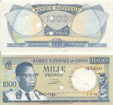 Kongo / Congo - 1000 Francs 1964 UNC - Pick 8a - cancelled / entwertet (Sterne)