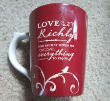 2005 Dayspring 10oz Coffee Love Richly Scripture Reddish Brown #80791