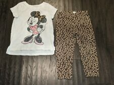 DISNEY JUMPING BEAN~2 PIECE SET MINNIE MOUSE LEGGINGS~TOP/PANT~24 MONTHS~OUTFIT