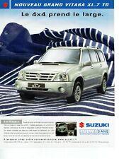 Publicité Advertising 039  2004   nouveau Grand Vitara XL.7 TD Suzuki