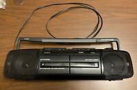 RCA RP-7780A Boom Box Bass AM/FM Stereo Dual Cassette Copy/Dub Recorder - EUC