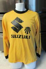 Vintage 1970's Suzuki Motorcycles Motorcross mesh Jersey Xl seltenes Hemd