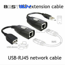 USB 2.0 Male to Female Cat 5e 6e RJ45 LAN Extender Extension Adapter Cable BBC