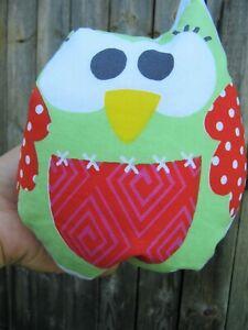 Hand made little fun owl plush toy for kids,nursery set
