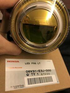 Honda Genuine OEM LED Fog Lamp Yellow CIVIC TYPE R  08V31-E3J-D00 LH RH Set of 2