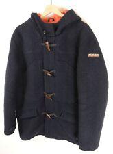 Mens Napapijri Wool Blend  Duffle Coat Size Large XL Original  : JA80