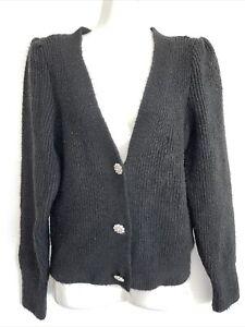 Pretty black Cardigan with diamanté buttons. By Primark. Size 6/8.