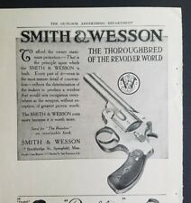 1910 Smith and Wesson gun Thoroughbred of revolver world vintage ad