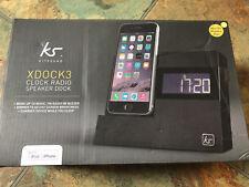 KITSOUND XDOCK 3 Radio Conector Lightning Reloj Negro Dock Para Iphone 5 6 7 8 X