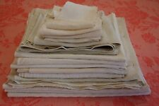 Bundle Linen Blend Panels Fabric Medium Vintage French White IMPERFECT 3lbs