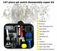 147 pcs Watch Repair Kit Watchmaker Back Case Remover Opener Link Pin Spring Bar
