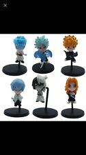 BLEACH MANGA/ANIME SERIES CAKE TOPPERS 6 PLASTIC FIGURES BRAND NEW FREE P+P