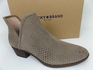Lucky Brand LK-BALEY  Brindle Oiled Suede Womens Booties SZ 8.5 M, DISPLAY 18404