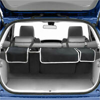 Car Trunk Cargo Storage Bag Organizer 4 Pocket Multi-Purpose Holder Box Black