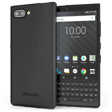 AMZER Ultra Thin Pudding TPU Skin Soft Case Cover - Black For BlackBerry Key2