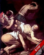 THE CRUCIFIXION OF APOSTLE PETER ROME ITALY PAINTING BIBLE ART REAL CANVASPRINT