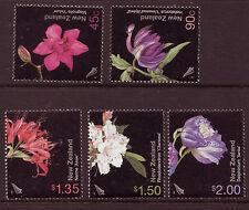 NEW ZEALAND 2004 GARDEN FLOWERS SET OF 5 UNMOUNTED MINT
