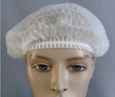 20 Pcs Disposable Head Cover Mob Cap Hat Hair Net Non Woven Anti Dust White ac54