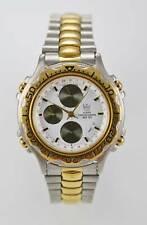 Dumont Saab Watch Men Alarms Chro Stainless Steel Silver Gold 50m White Quartz