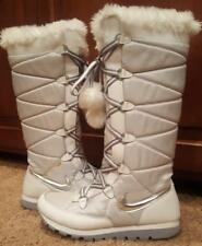 Nike Insulated Outdoor Winter Snow Boots, Tall, Size 10, Women's Pre-Owned White