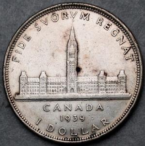 Canada George Vl 1939 Silver Dollar   #150919