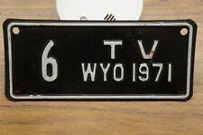 1971 Wyoming TV License Plate Low Digit Number # 6