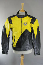"""FRANK THOMAS LEATHER BIKER JACKET WITH REMOVABLE PROTECTORS & THERMAL LINING 40"""""""