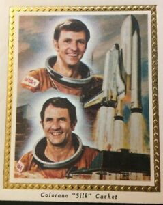 """EARLY 2CD SHUTTLE -COLOMBIA STS-2 LAUNCH COLORANO """"SILK"""" PIC CACHET SPACE COVER"""
