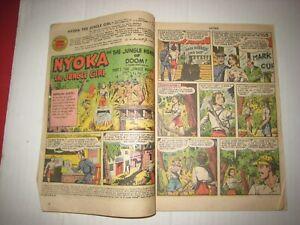 1950 Fawcett Comic; Nyoka The Jungle Girl- Heads Of Doom !;No Cover;  #45; July