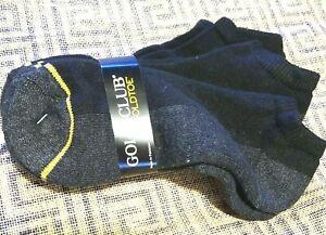 3 Pair GOLDTOE Gold Club Black Socks ~ Low Cut Adult Men's 6-12.5
