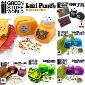Leaf Punches Green Stuff World Scenery Basing Cutters Free P&P