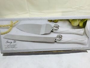 Wedding Cake serving set, Cake Serving set, Silver plated cake serving set NIB