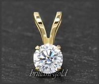Diamant Brillant 585 Gold Anhänger mit 0,73 ct, Top Wesselton, Si; 14 Karart NEU