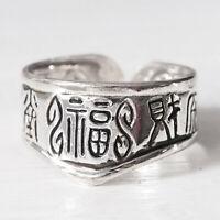 NEU DAUMENRING mit CHINESISCHEN ZEICHEN Farbe silber THUMB RING Damenring RING
