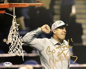 Mike Brey Signed Autographed Notre Dame Fighting Irish 8x10 Photo Psa/Dna
