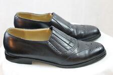 THE SHOE LOFT Brazil, women's leather shoe boots 7M   half boots slip on elastic