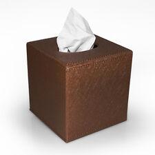 Kosmetiktuchbox Taschentuchbox PU-Leder braun GlitzerTissuebox Kleenexbox